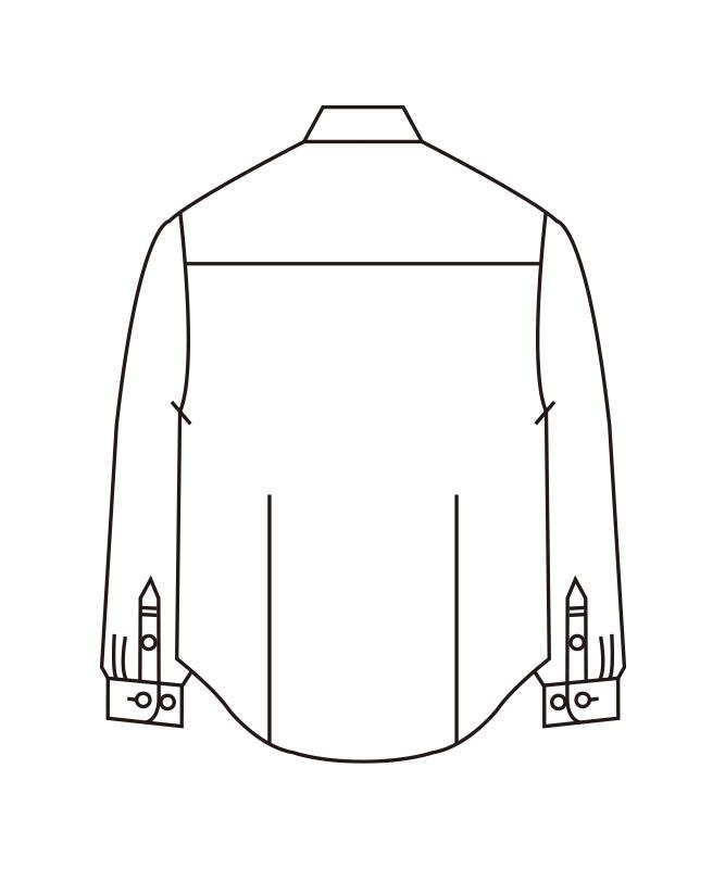 ストライプシャツメンズ長袖[住商モンブラン製品] BV2571