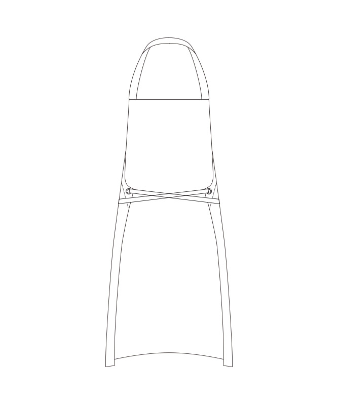 オックスエプロン[チトセ製品] T8337