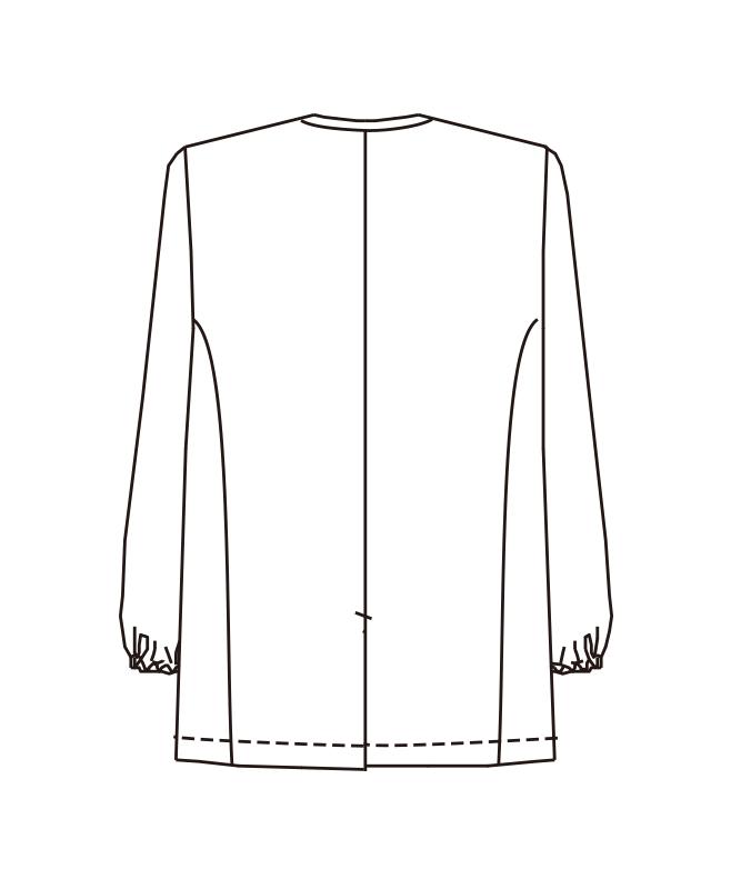 トリミングコート長袖[男子][チトセ製品] 1590