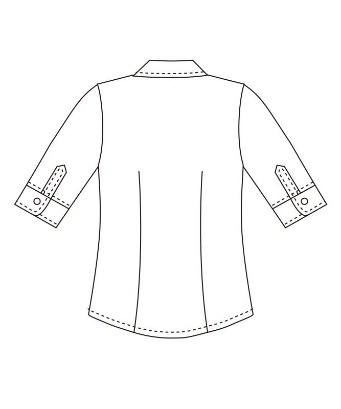 カルゼブラウス七分袖[チトセ製品] BL8057