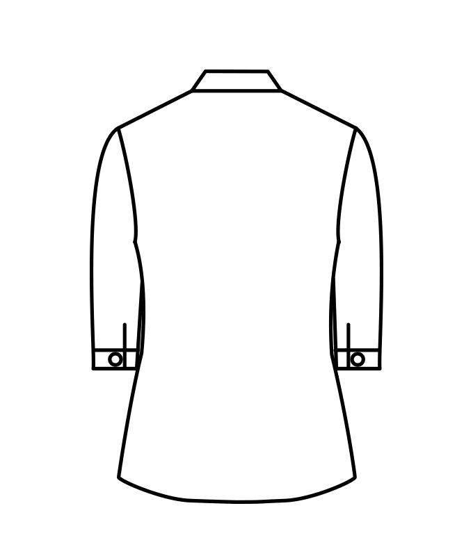 ポプリンシャツレディス七分袖[住商モンブラン製品] PS2141-2