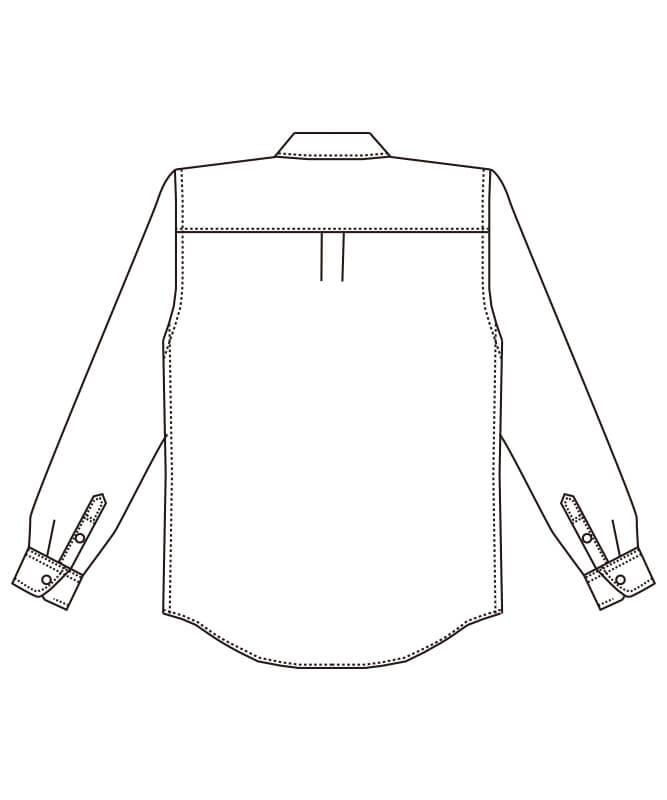 ボタンダウンシャツ長袖[男女兼用][チトセ製品] EP8533
