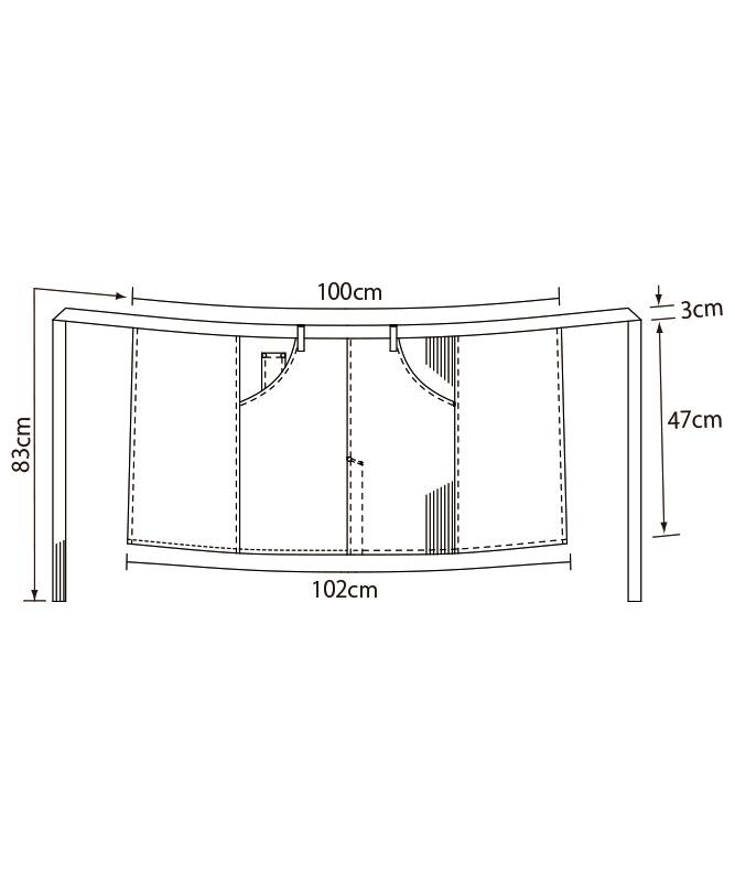 ミドルエプロン[KAZEN製品] APK783