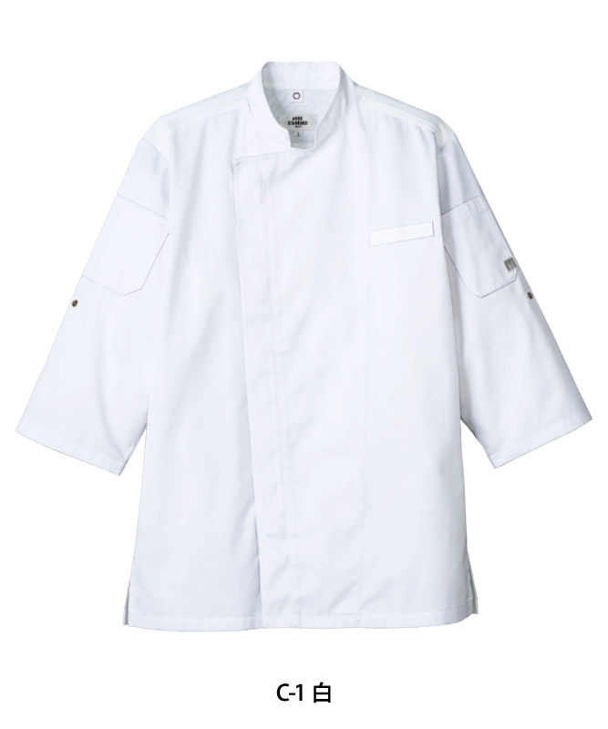 双糸ツイルコックシャツ七分袖[男女兼用][チトセ製品] AS8611