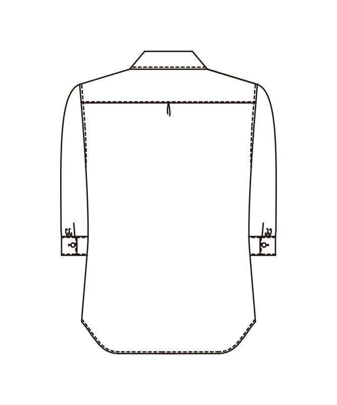 レディスシャツ七分袖[KAZEN製品] 627