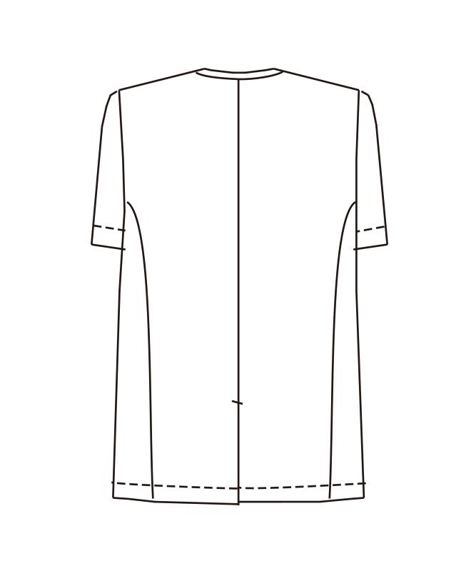 トリミングコート半袖[男子][チトセ製品] 2590