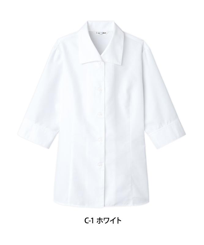 カルゼブラウス七分袖[チトセ製品] BL8058