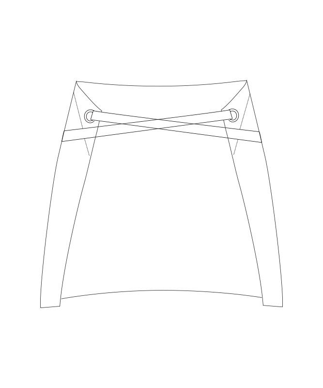 オックスエプロン[チトセ製品] T8340