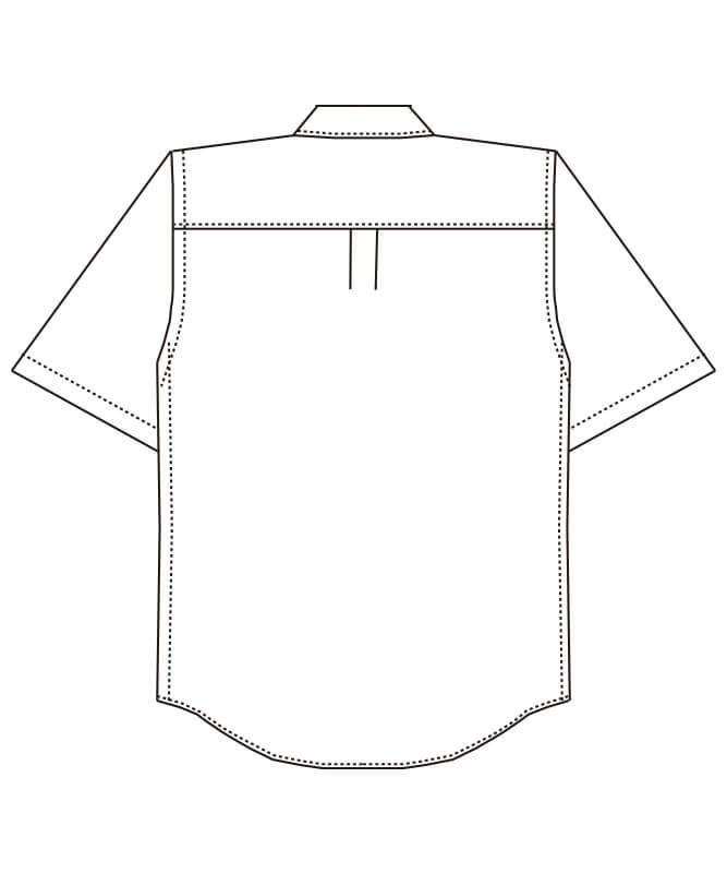 ボタンダウンシャツ半袖[男女兼用][チトセ製品] EP8534