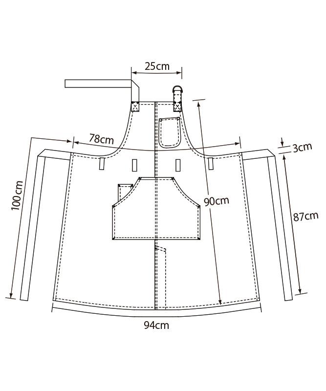 胸当てエプロン[KAZEN製品] APK784