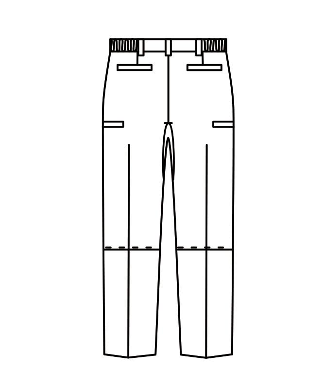 腰ケアパンツ(腰部サポートベルト付)[男女兼用][住商モンブラン製品] FPB7411