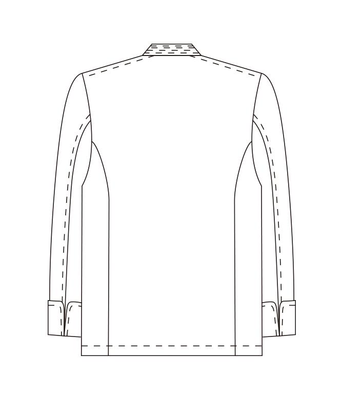 カツラギコックコート長袖[男女兼用][チトセ製品] CA114