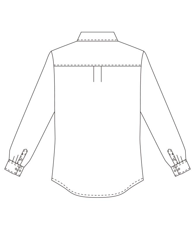 カッターシャツ長袖[女子][チトセ製品] EP927