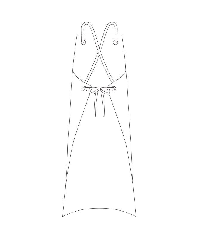 撥水エプロン[チトセ製品] T8344