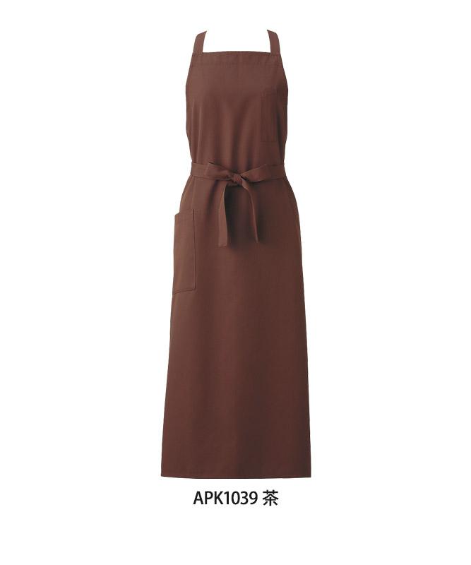 エラスフィットツイルエプロン[KAZEN製品] APK103