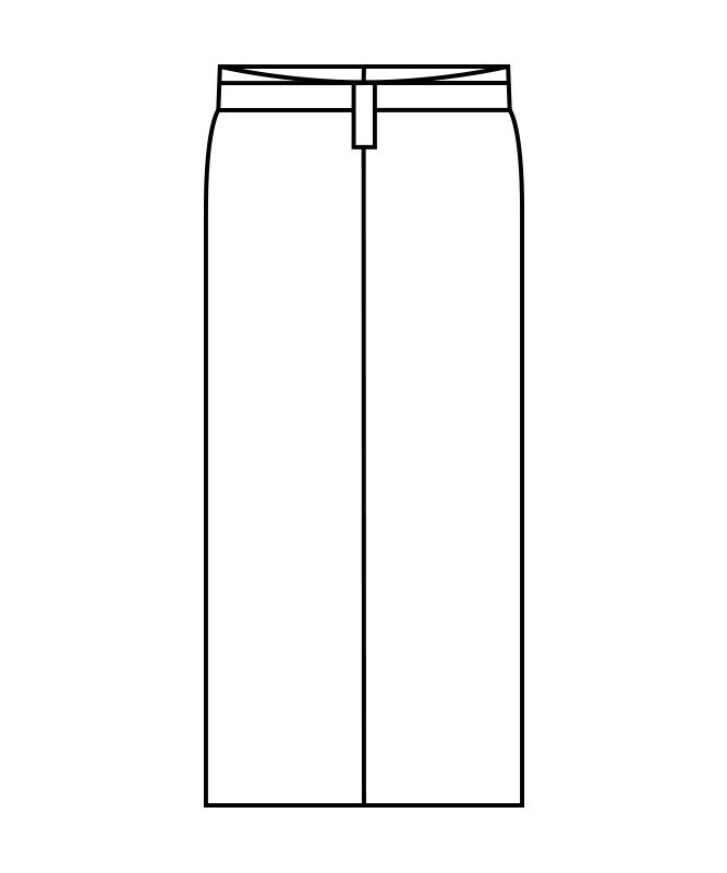 和風ラップスカート松葉格子(腰ヒモ式)[住商モンブラン製品] 7-43