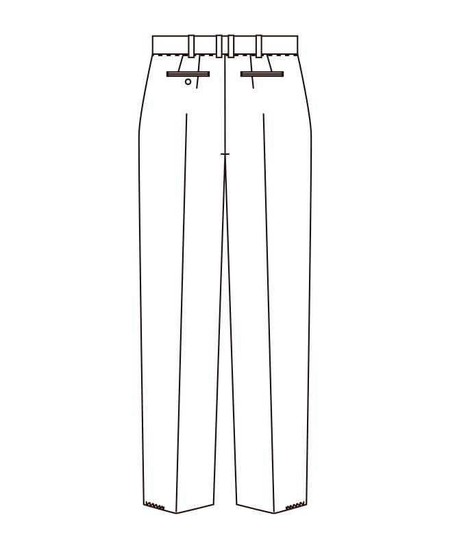 ギャバジンスラックス(ツータック)[男子][チトセ製品] AS802