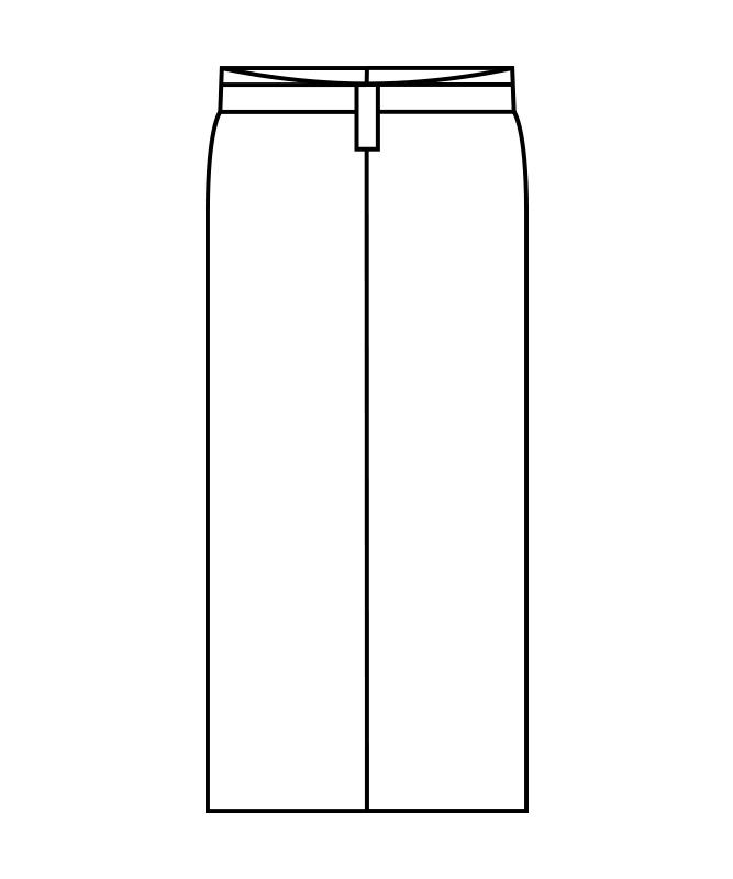 和風ラップスカート(腰ヒモ式)[住商モンブラン製品] 7-44
