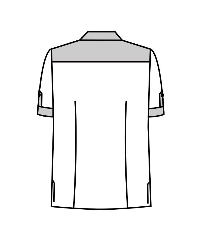 コードレーンコックシャツ半袖[男女兼用][KAZEN製品] 634-25
