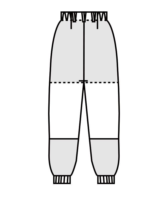 パンツ(ノータック・両脇ゴム)[男女兼用][住商モンブラン製品] DC7701