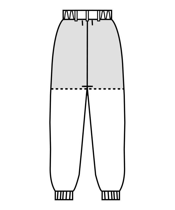制電裏綿トリコットパンツ(ツータック・両脇ゴム)[男女兼用][住商モンブラン製品] 7-451