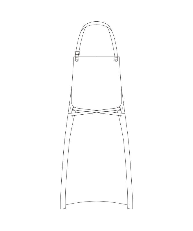 デニムエプロン[チトセ製品] T8415