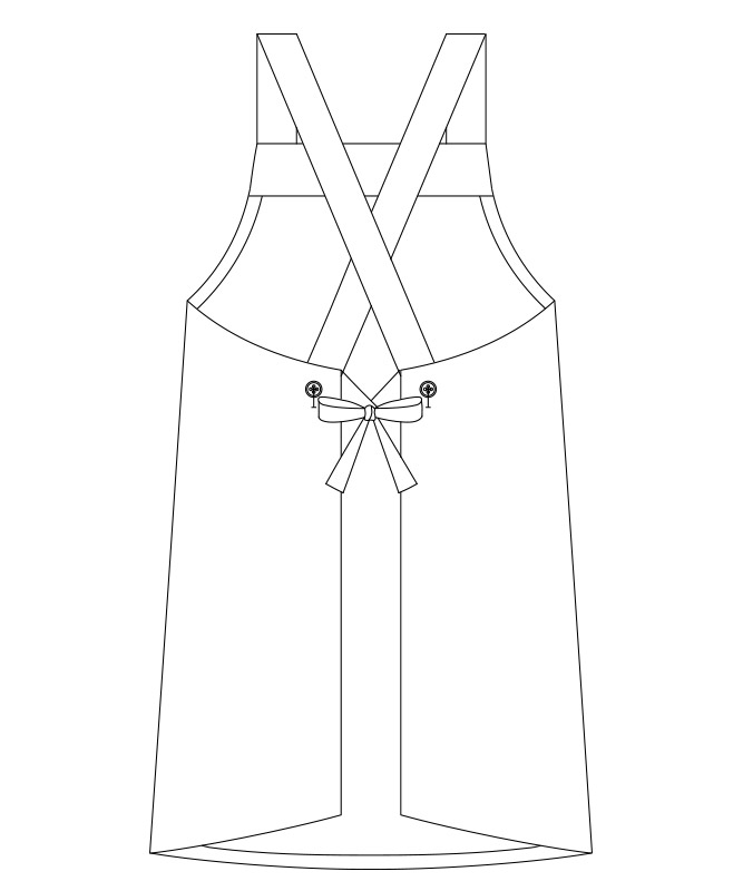 トロピカル胸当てエプロン(たすき型)[男女兼用][チトセ製品] BSS100