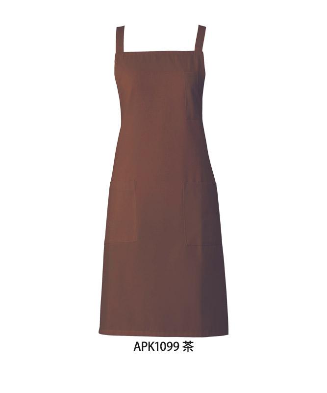 エラスフィットツイルエプロン[KAZEN製品] APK10