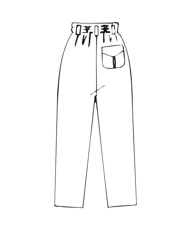 双糸ツイルパンツ[女子][チトセ製品] CA6422