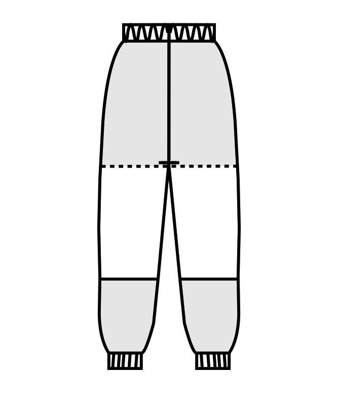 パンツ(総ゴム+ヒモ付)[男女兼用][住商モンブラン製品] DC7711