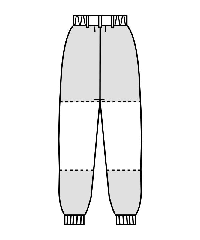 ダブルクロスパンツ(ツータック・両脇ゴム)[男女兼用][住商モンブラン製品] 7-47