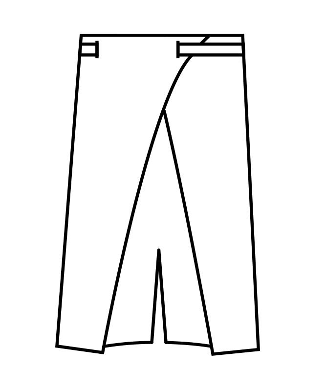 サロンエプロン(ストライプ)[男女兼用][住商モンブラン製品] 9-124