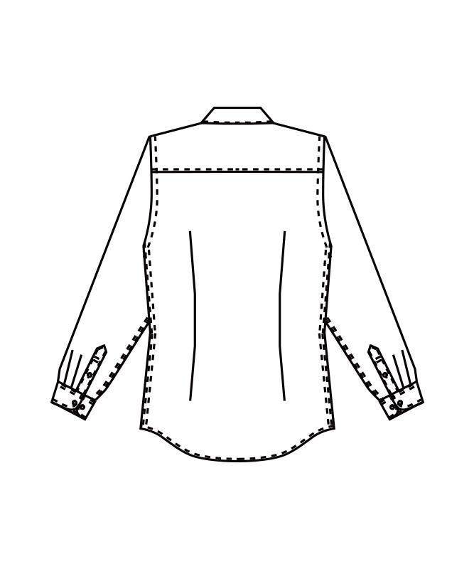 ボタンダウンシャツ長袖[女子][チトセ製品] KM8374
