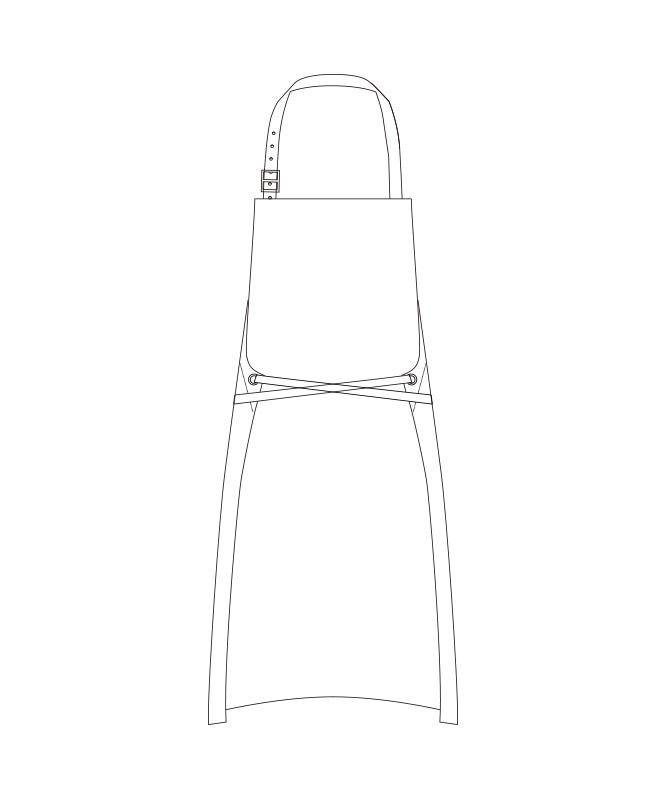 デニムエプロン[チトセ製品] T8416