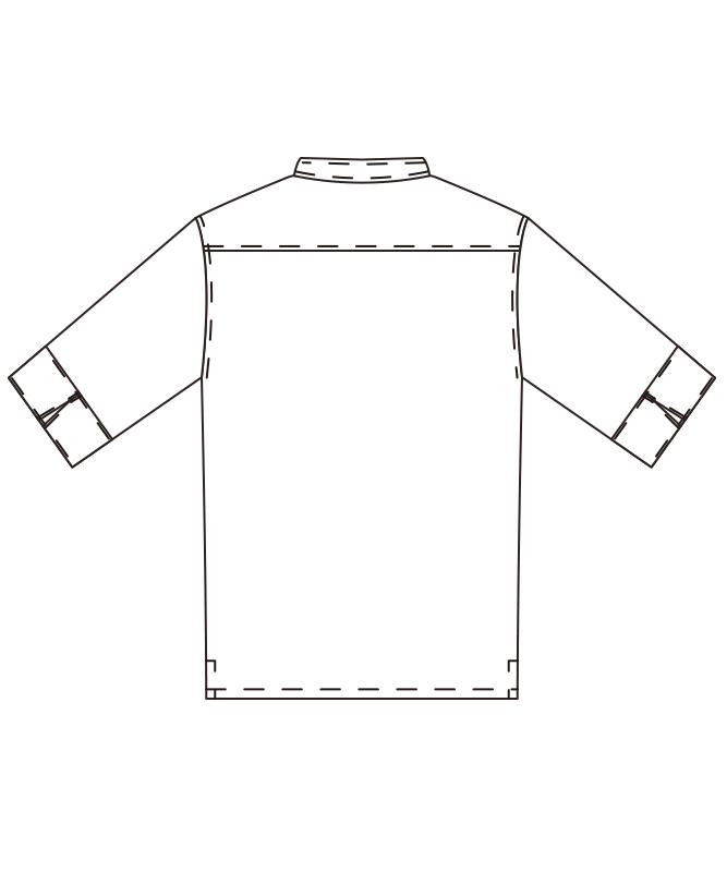 ストレッチツイルコックシャツ五分袖[男女兼用][チトセ製品] 7757