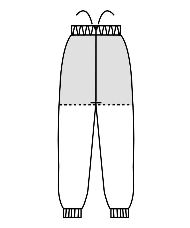 制電トロピカルパンツ(総ゴム+ヒモ付)[男女兼用][住商モンブラン製品] 7-481