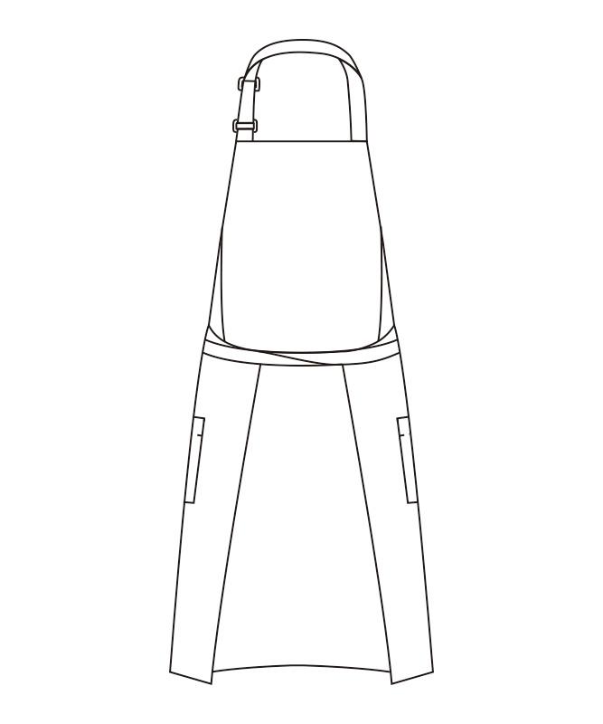エプロン[男女兼用][チトセ製品] T8537