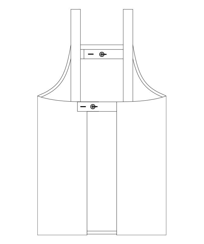 トロピカル胸当てエプロン(H型)[男女兼用][チトセ製品] BSS102