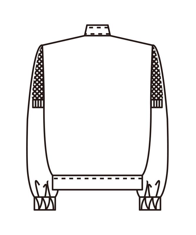 ストレッチツイルジャンパーレディス長袖[KAZEN製品] 459-9