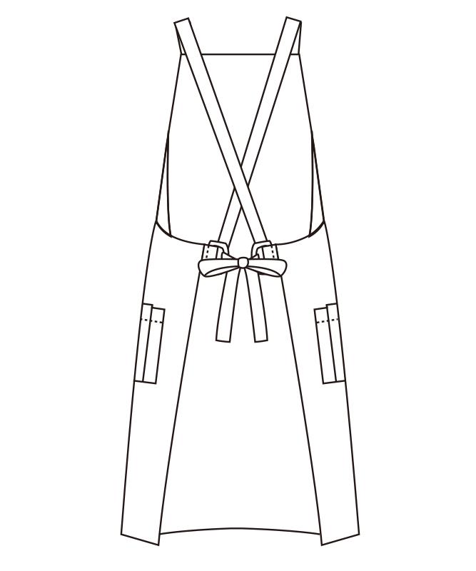 胸当てエプロン[チトセ製品] T8090