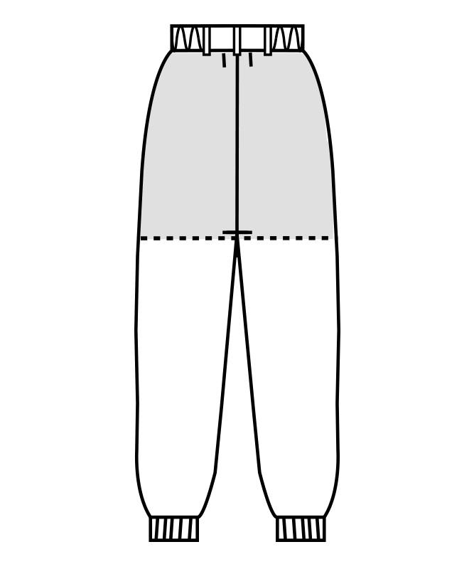 制電ストレッチツイルパンツ(ツータック・両脇ゴム)[男女兼用][住商モンブラン製品] 7-501