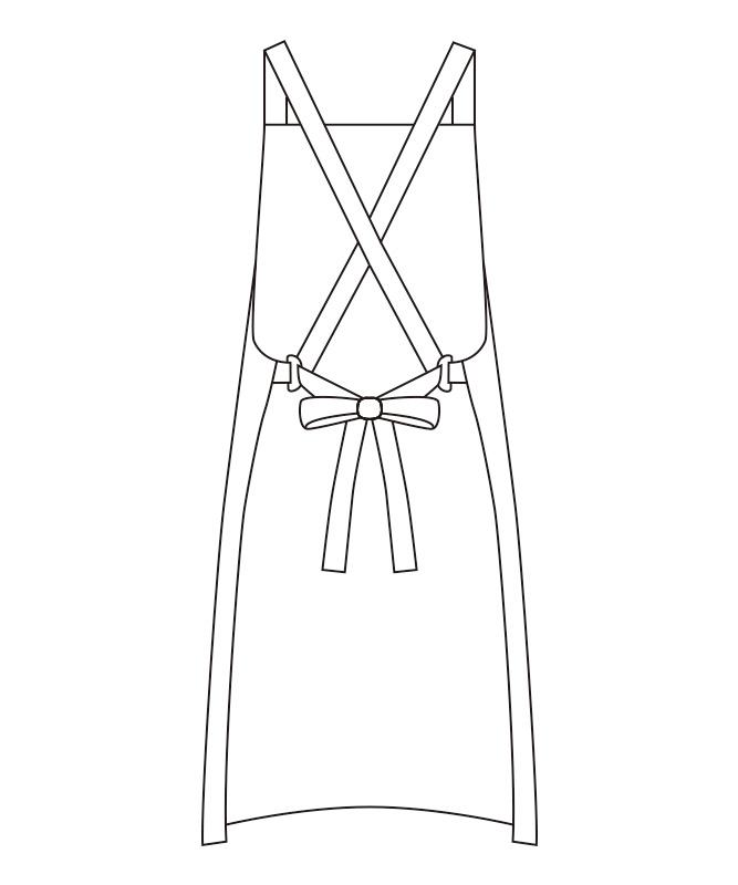 エプロン[男女兼用][チトセ製品] T8538