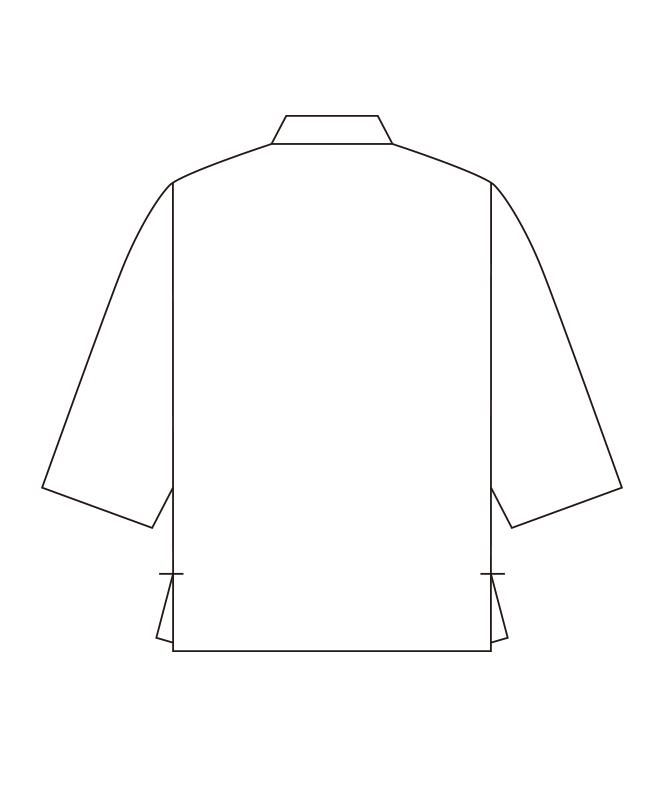 和風シャツ七分袖[男女兼用][チトセ製品] G7739