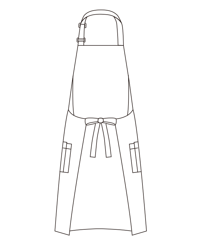 胸当てエプロン[チトセ製品] T8091