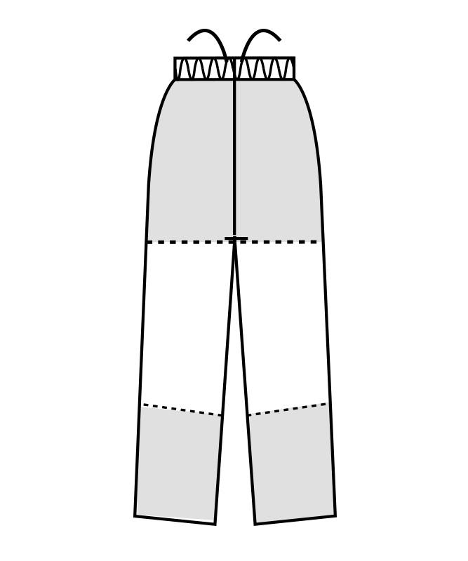 制電ストレッチツイルパンツ(総ゴム+ヒモ付)[男女兼用][住商モンブラン製品] 7-50