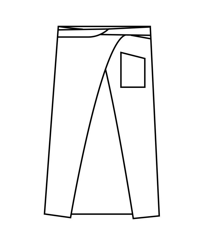 ロングエプロン[男女兼用][住商モンブラン製品] 9-128