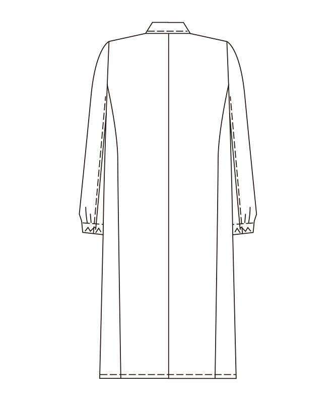 ホワイトコートシングル長袖[女子][チトセ製品] CA6643