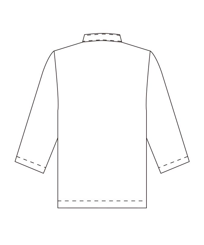 和風シャツ七分袖[男女兼用][チトセ製品] G7741