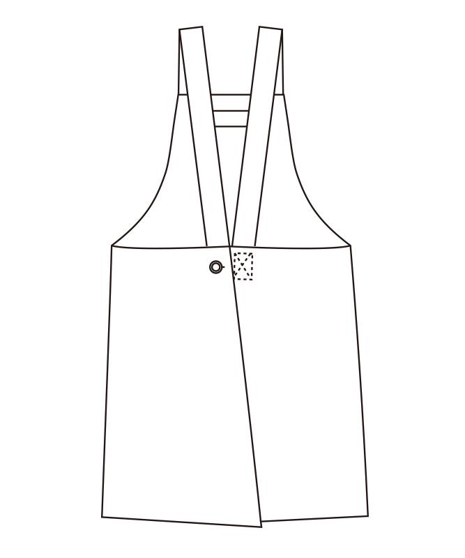 胸当てエプロン[チトセ製品] T8092