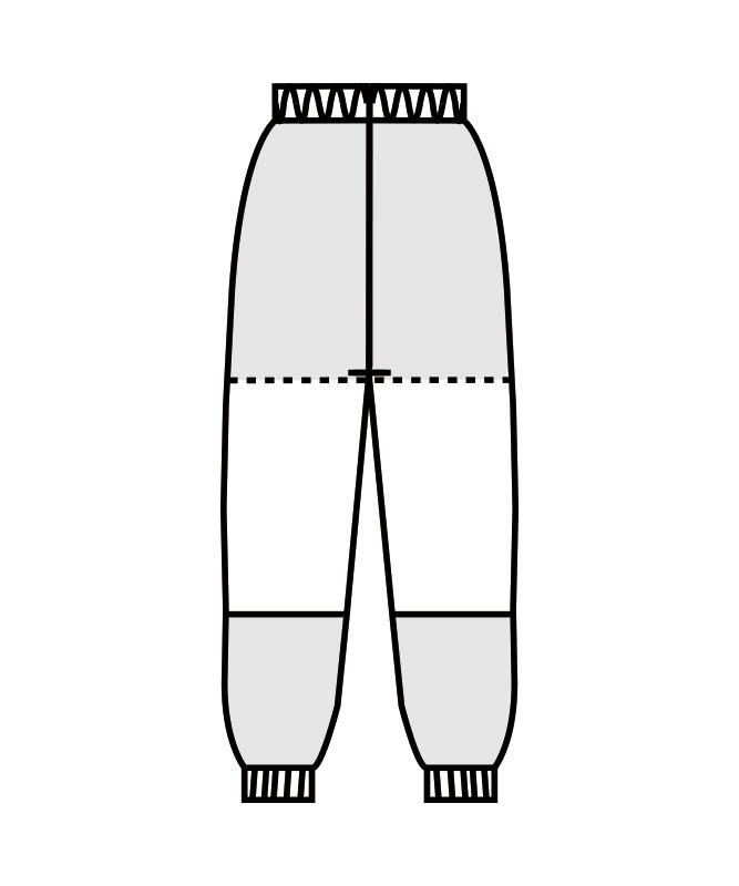 パンツ(総ゴム+ヒモ付)[男女兼用][住商モンブラン製品] DF7711